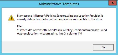 Windows 10 Error ADMX