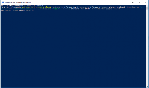 Script-basierte Erstellung der Benchmark-VM