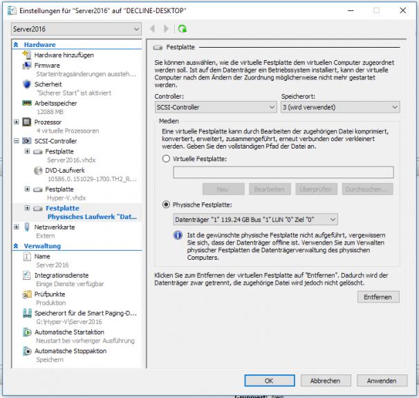 Einbindung der SSD