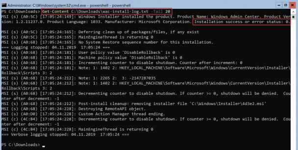 So geht das Installieren des Windows Admin Centers (WAC) auf Windows Server Core 4